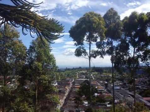 Vista desde el Mirador de Salento