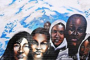 mural sobre racismo